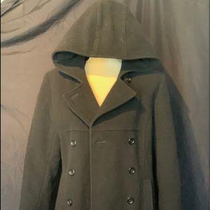 London Fog Towne hooded pea coat